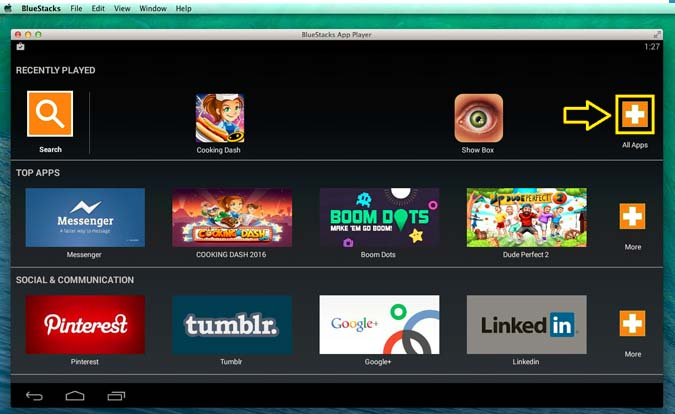 ALL APPs button on Mac