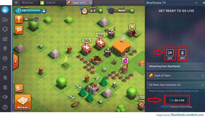 Stream BlueStacks TV Using Twitch