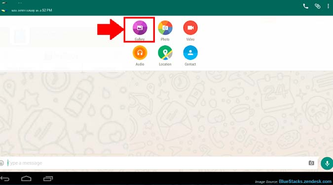 Send files from Mac to WhatsApp on Bluestacks
